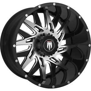 24x14 Black Machined Dna 8x6 5 76 Rims Country Hunter Mt 38 Tires