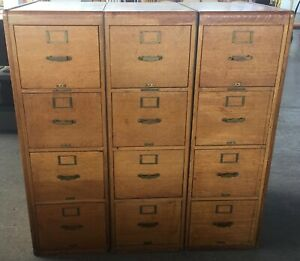 Library Bureau Makers File Cabinet Set Of 3