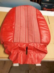 Warranteed 1977 Mustang Ii Seat Back Cover Red white Fd04 Trim