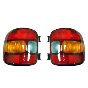 New Pair Of Tail Lights Fits Chevrolet Silverado 1500 Stepside 1999 03 Gm2800136