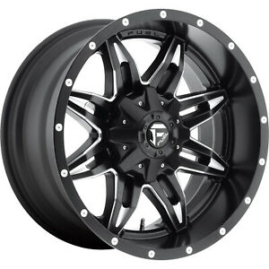 20x10 Black Fuel Lethal 6x135 6x5 5 12 Rims Country Hunter Mt Tires