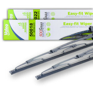 New Pair Of 18 22 Oem Valeo Wiper Blades Fits Lexus Es300 1997 01 85212yzz10