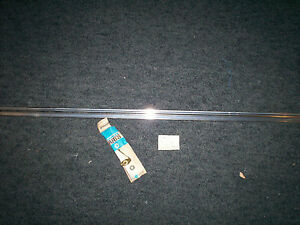 Nos 1965 Dodge Coronet Right Rear Door Moulding With Mounting Clips