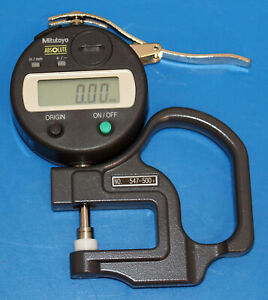 calibrated Mitutoyo Absolute 547 500 Digimatic Thickness Gage 0 01mm