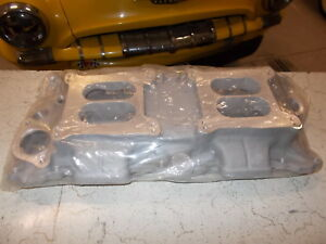 Offy Offenhauser Sbc Dual Quad Low Profile Intake Manifold