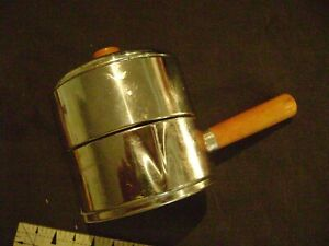 Chase Art Deco Chrome Butterscotch Bakelite Stacking Coffee Service Cream Sugar