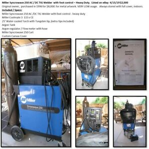 Miller Syncrowave 250 Ac dc Tig Welding Machine Excellent Condition