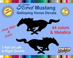 Ford Mustang Pony Horse Decal Sticker Ford 5 0 Gt Emblem Badge 302 Racing 1 Pair