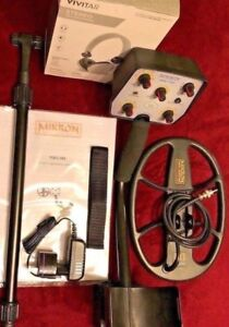 Gift Pack Serious Depth Mikron Metal Detector Coil Headphones Charger Batteries