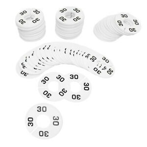 Hangers Retail Clothing Rack 3 1 2 Round Plastic Size 30 Dividers 10 Pcs White