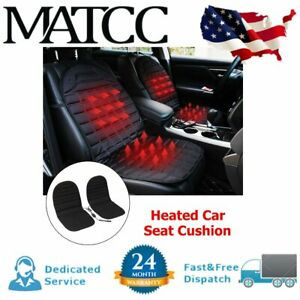 2x 12v Car Seat Warm Pad Cushion Cover Chair Heating Heater Thickening Heated Us