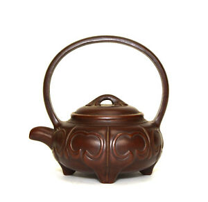 Vintage Chinese Yixing Zisha Purple Clay Ceramic Teapot
