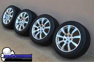 18 Gm Cadillac Cts Oem Factory Polished Wheels Rims Michelin Tires 9597873