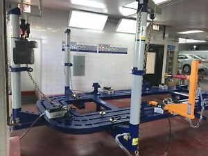 New 18 Feet Auto Body Frame Machine With Tools Cart And Tool And Clamps