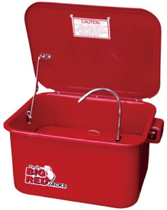 Torin Big Red Steel Cabinet Parts Washer With 110v Electric Pump 3 5 Gallon