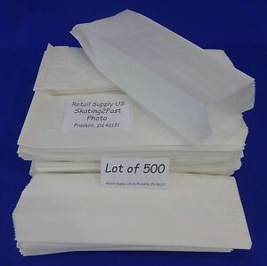 Qty 500 Hot Dog Paper Bags Concession Machine Supplies 3 X 2 X 8 75