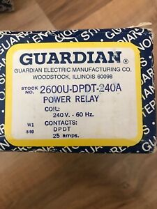 New Guardian Electric 2600u dpdt 240a Power Relay