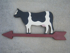 Cow Farmer Grocery Dairy Market Sign Primitive French Country Farmhouse Folk Art
