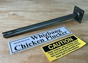 Whizbang Chicken Poultry Plucker Featherplate Shaft Vinyl Bumper Stickers
