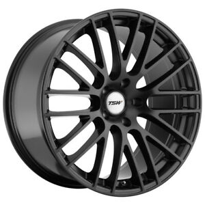 Staggered Tsw Max Front 17x8 Rear 17x9 5x112 Matte Black Wheels Rims
