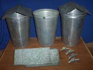 8 Maple Syrup Aluminum Sap Buckets Lids Covers Taps Spiles Spouts