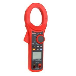 Uni t Ut222 Acdc 2500a Digital Clamp Meter True Rms Ammeter Resistor Frequency