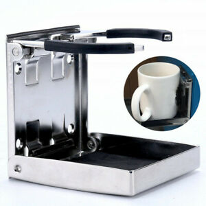 Stainless Steel Sport Folding Drink Cup Holder Marine Boat Car Fishing Truck Rv