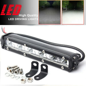6 Inch Led Light Bar Ultra Thin Slim Driving Fog Off Road For Jeep Truck Suv Rv