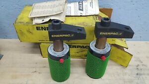 Lot Of 2 New Old Stock Enerpac Hydraulic Swing Clamp Cylinder Rwl 3 3 Ton