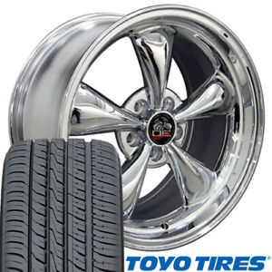 17x10 5 17x9 Wheels Tires Fit Ford Mustang Bullitt Chrome Rim Toyo W1x
