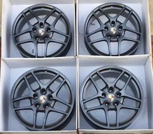19 Porsche 911 Wheels Rims 997 996 911 Factory Oem Authentic Carrera S