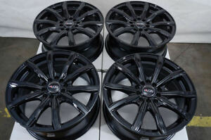 16 Wheels Honda Civic Accord Cr v Galant Camry Corolla Rav 4 Black Rims 5 Lugs