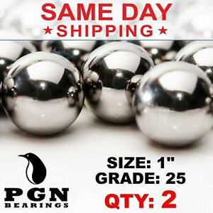 1 Inch Aisi 440 Stainless Steel Bearing Ball G25 Precision 2 Pcs