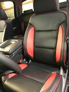 2014 2018 Gmc Sierra Sle Crew Cab Katzkin Leather Black Cardinal Red Custom Ne