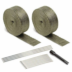 Dei 010095 Titanium V6 V8 Exhaust Pipe Header Heat Wrap Kit Locking Tie Tool