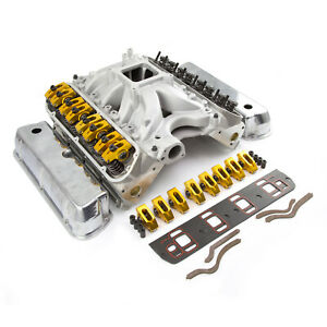 Fits Ford 351w Windsor Solid Ft 190cc Cylinder Head Top End Engine Combo Kit