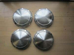 Vintage Mopar Set Of 4 Original Aluminum Dog Dish Hub Caps 9 Inch Very Clean