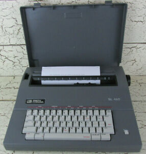 Smith Corona Portable Electric Typewriter Correcting With Cover Sl460 5a