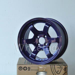 4 Rota Wheel Grid Concave 15x8 4x100 20 Violet Miata Civic 14 7 Lbs Last Set