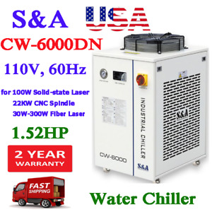 Usa S a 110v Cw 6000dn Water Chiller For Fiber solid state Laser cnc Spindle