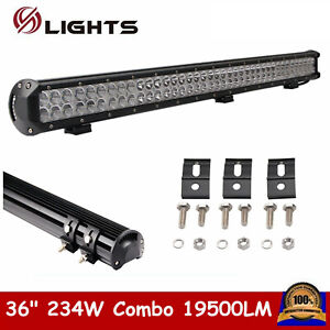 36inch 234w Led Light Bar Work Flood Spot Offroad 4wd Atv Driving For Jeep 34 32