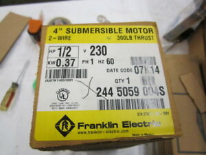 Franklin 1 2 Hp 1ph 230v 4 In Submersible Pump Motor 2445059004s 300 Lb thrust