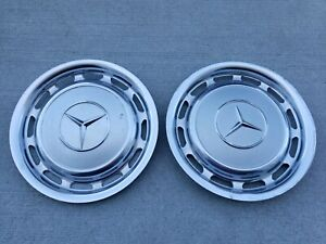 Lot Of 2 1970 S Vintage Mercedes Benz Wheel Cover 15 Oem Hubcaps Light Grey