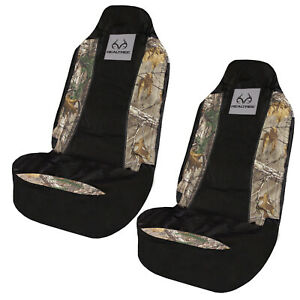 New Realtree Camouflage Car Truck Suv Van 2 Front Universal Fit Seat Covers Set