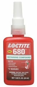 Loctite Retaining Compound 1 69 Oz Bottle 4000 Shear Strength psi 65 To