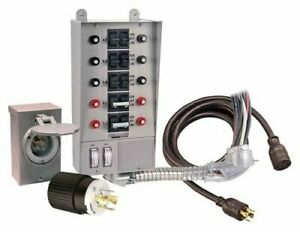 10 circuit Pro Tran Transfer Switch Kit 30 Amp For Generators Up To 7 500 Watts