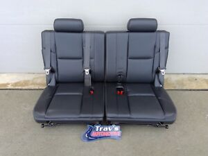 07 14 Chevy Tahoe Suburban Gmc Yukon Xl 3rd Row 50 50 Bench Seats Ebony