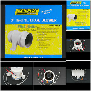 In line Bilge Blower 3 12 V Boat Exhaust Marine Made In Usa Seachoice 41871