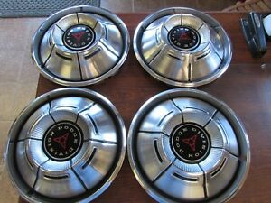 Vintage Factory 60 70 s Dodge Division Hub Caps Set Of 4