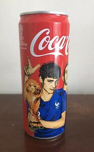 France 2018 World Cup Champions Coca Cola Coke Full Soft Drink Can Russia FIFA